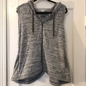 Athleta | Hooded workout vest with open back. NWOT